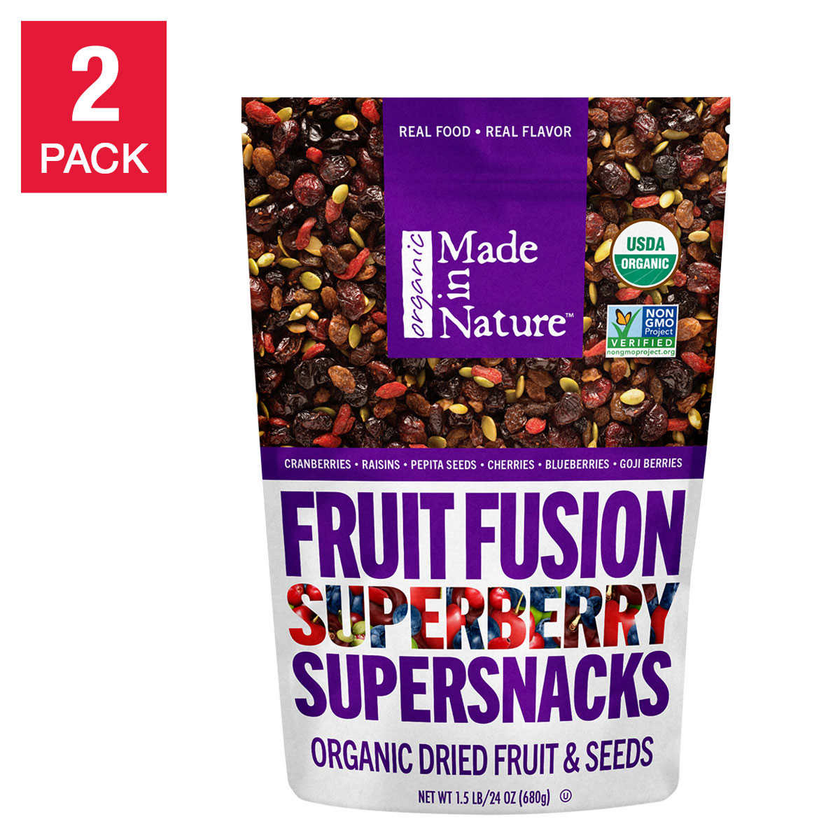 Made In Nature Organic Berry Fusion 24 Oz 2 Pack
