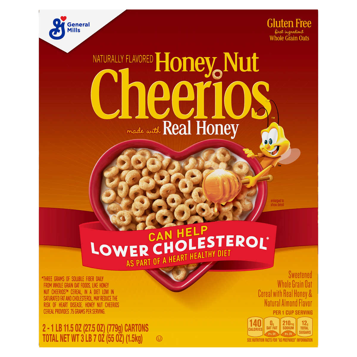 cheerios cereal honey nut 27 5 oz 2 count cheerios cereal honey nut 27 5 oz 2 count