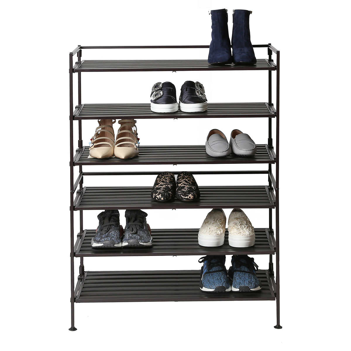 Seville Classics 3 Tier Multi Purpose Storage And Shoe Rack 2 Pack