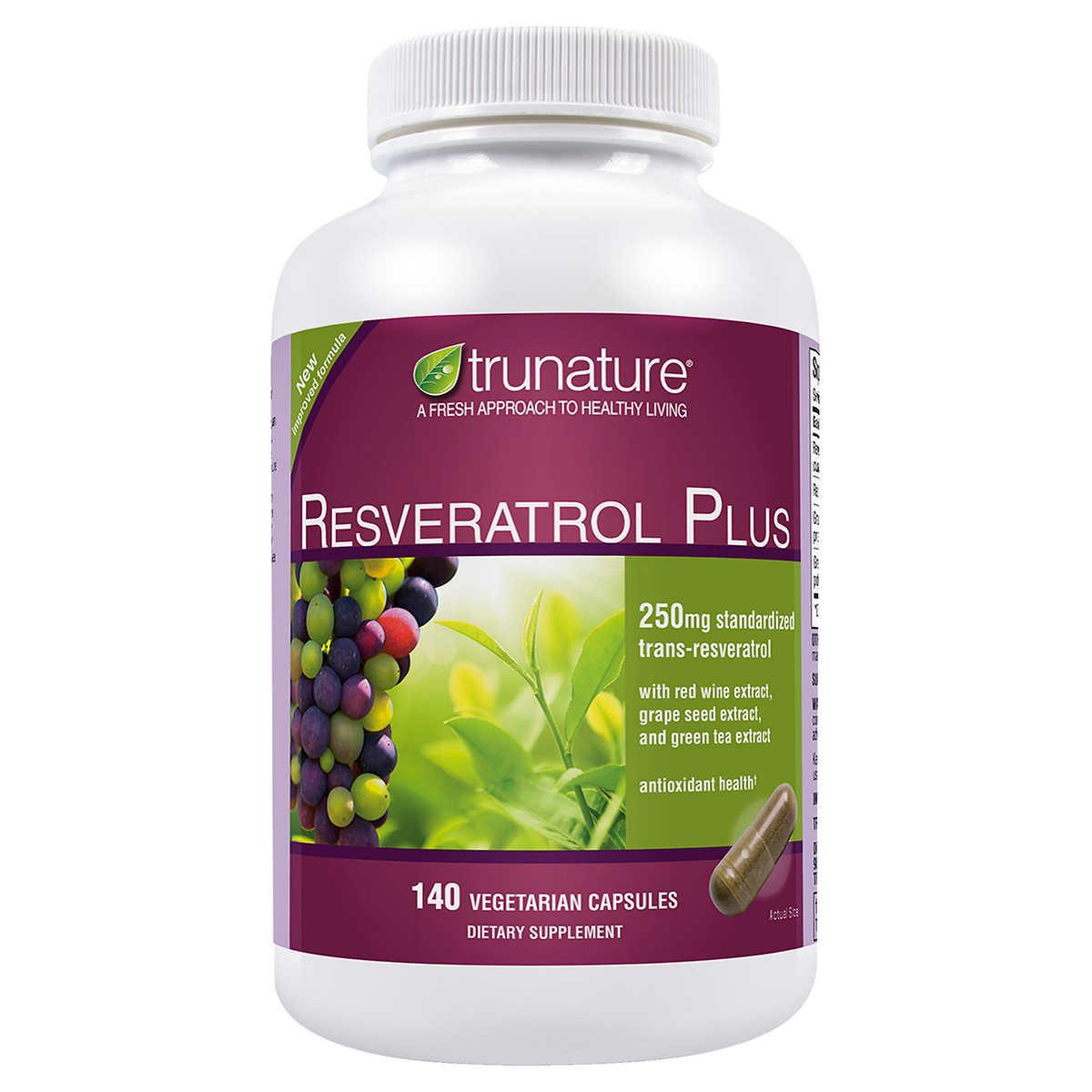 Trunature Resveratrol Plus 140 Vegetarian Capsules