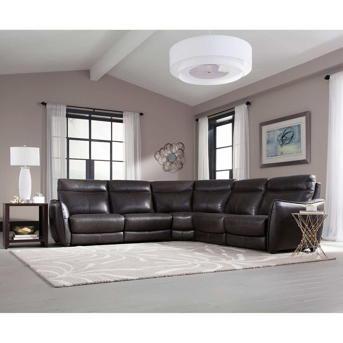 logan creek top grain leather reclining sectional best leather furniture manufacturers