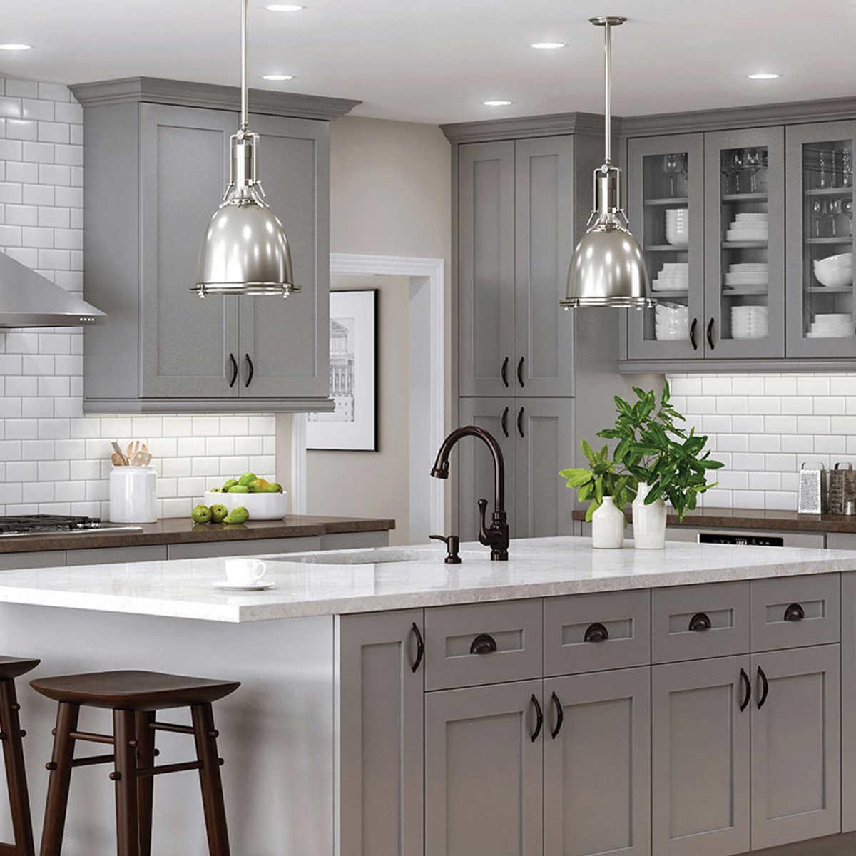 grey wood kitchen cabinets