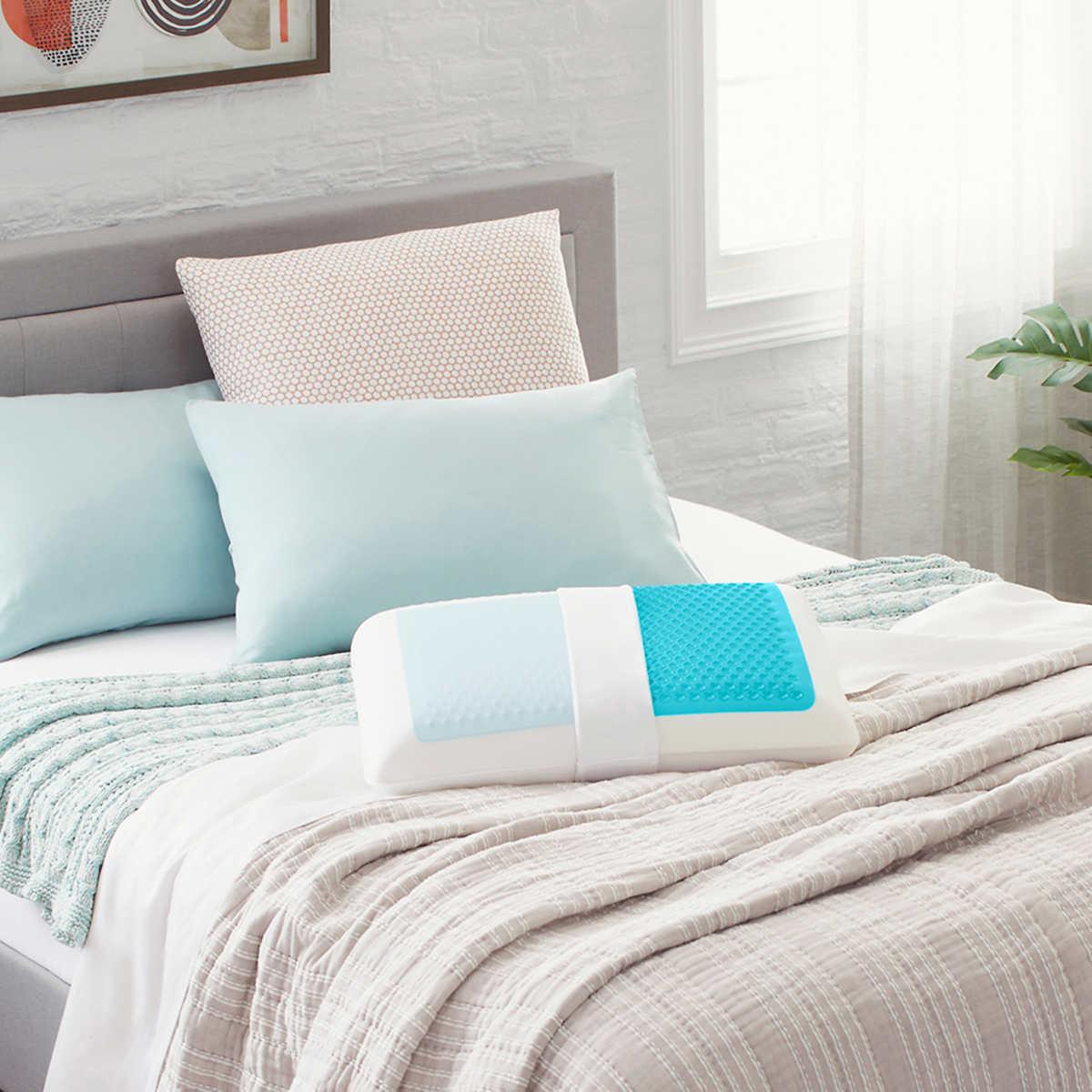 Comfort Revolution Hydraluxe Gel Memory Foam Bed Pillow Standard