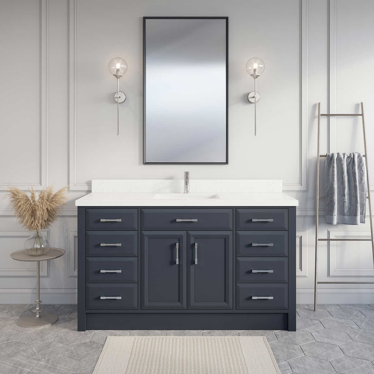 Calais 60 Pepper Gray Single Sink Vanity By Studio Bathe Costco