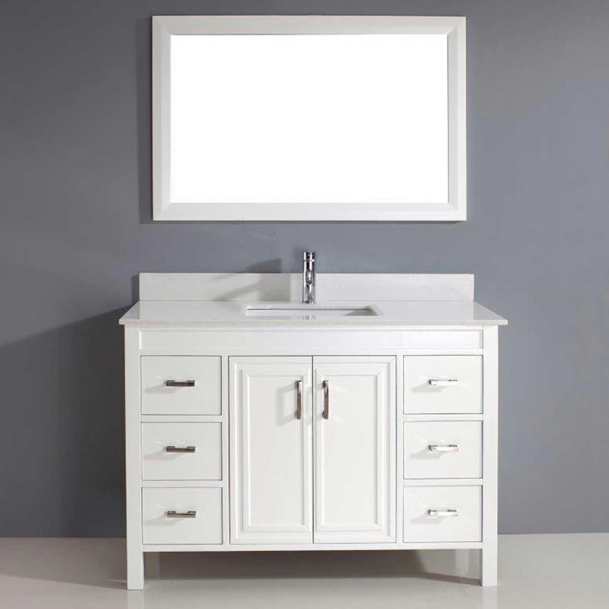 "Corniche 12"" White Vanity by Studio Bathe"
