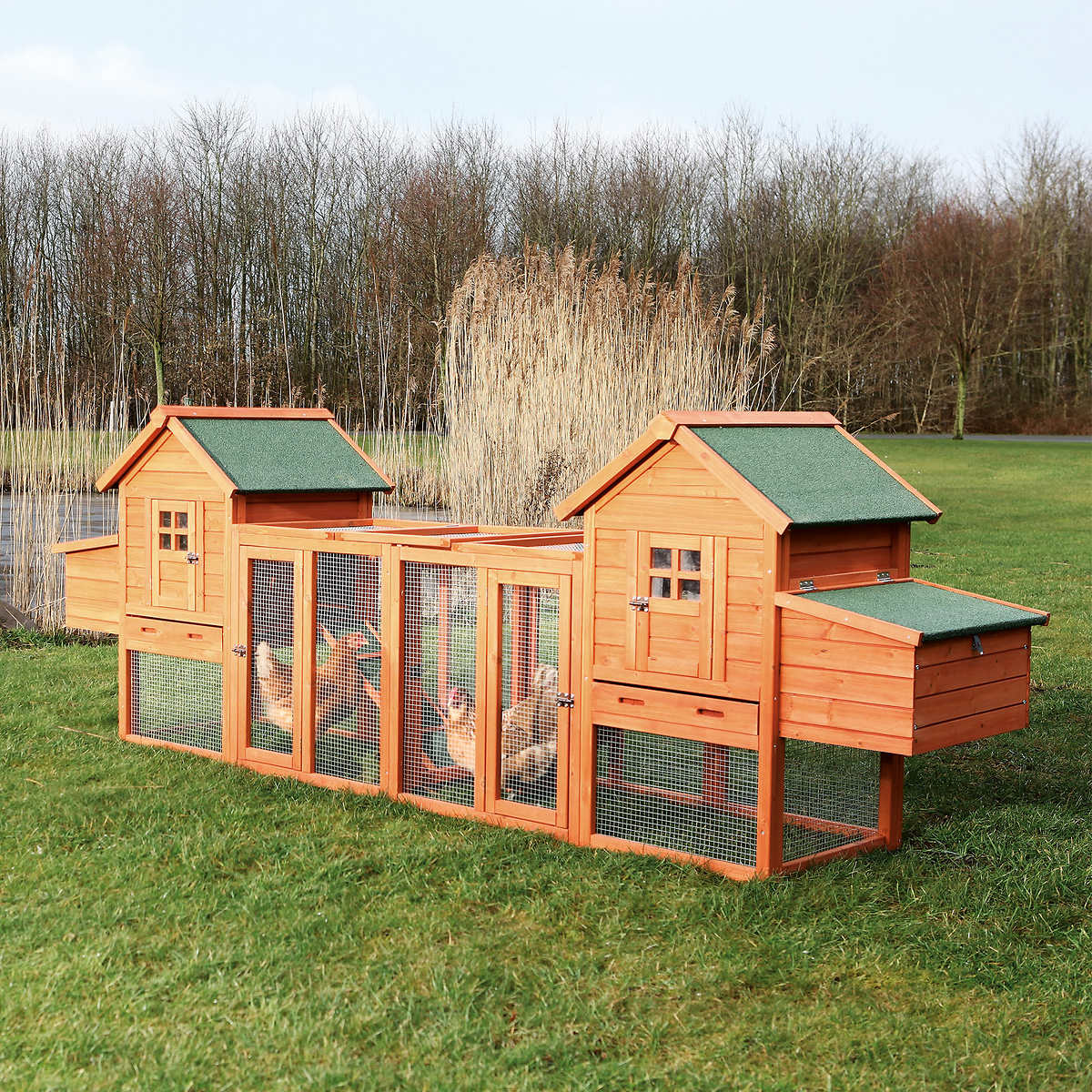 sloped with p roof cages enclosure hutch ft beds x rabbit trixie medium