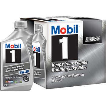 Mobil 1 advanced full synthetic motor oil 5w 30 for Advance auto motor oil