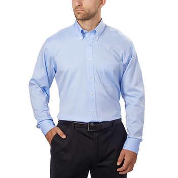 Kirkland Signature Men S Button Down Dress Shirt Blue