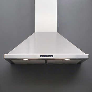 valore summit 30 or 36 stainless steel chimney range