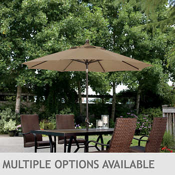 9 39 market umbrella with auto tilt multiple color options