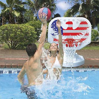 Poolmaster usa competition poolside basketball game - Swimming pool basketball hoop costco ...