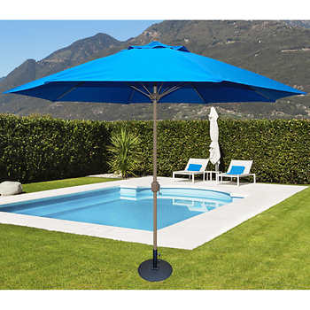 11 ft tropishade market umbrella in royal blue