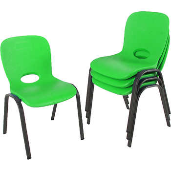 Lifetime Kids Stacking Chair 4pk Lime