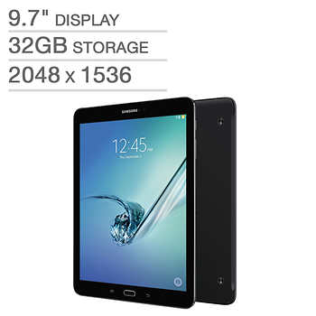 samsung galaxy tab s2 wi fi tablet octa core android marshmallow black includes book cover. Black Bedroom Furniture Sets. Home Design Ideas