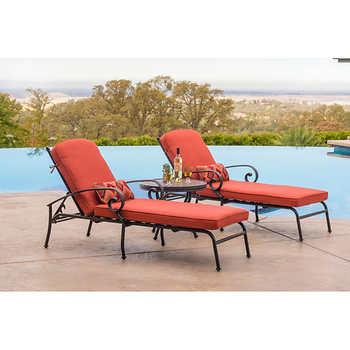 Clayton 3 piece chaise lounge set for Ava chaise lounge costco
