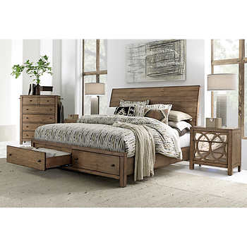 audrey 4 piece cal king storage bedroom set