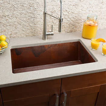Hahn copper extra large undermount single bowl sink - Extra large farmhouse sink ...