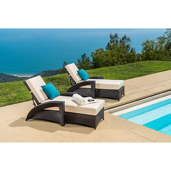Pacific chaise lounger 2 pack for Chaise lounge costco