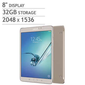 samsung galaxy tab s2 wi fi tablet octa core android marshmallow gold includes book cover. Black Bedroom Furniture Sets. Home Design Ideas