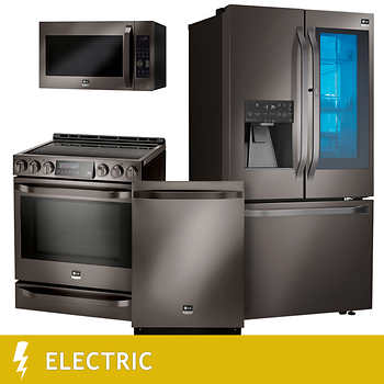 Lg Studio 4 Piece Electric 25 3cuft Counter Depth With Instaview Refrigerator Kitchen Suite In