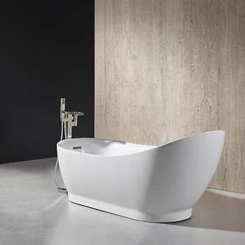 ove decors myla 69 freestanding bathtub. Black Bedroom Furniture Sets. Home Design Ideas