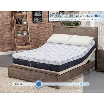 sleep science 10 active latex medium firm queen mattress with adjustable base. Black Bedroom Furniture Sets. Home Design Ideas