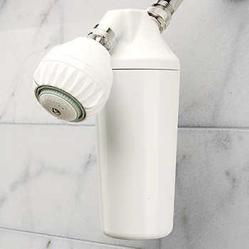 hahn 10 000 gallon shower filtration system with shower head. Black Bedroom Furniture Sets. Home Design Ideas