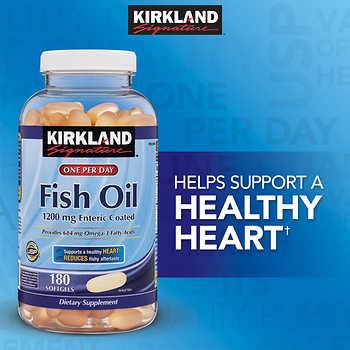 Kirkland signature fish oil 1200 mg 180 enteric coated for Kirkland fish oil reviews