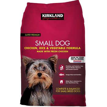 Kirkland signaturetm small breed adult dog formula chicken for Costco adult dog food