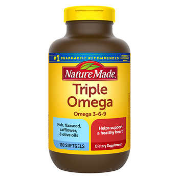 Nature made triple omega 180 softgels for Costco fish oil