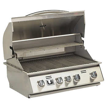 Urban islands stainless steel 30 4 burner drop in grill for Drop in grills for outdoor kitchens