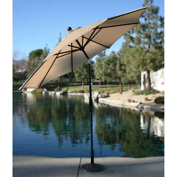 9 ft market umbrella antique beige