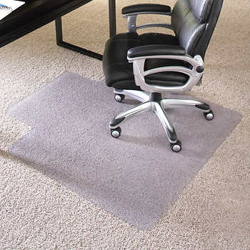 es robbins chair mat for high pile carpet 45 x 53 w lip clear