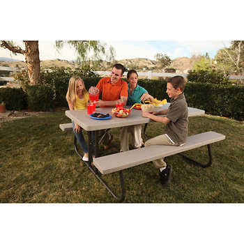 Lifetime 6 ft folding picnic table for 10 ft picnic table