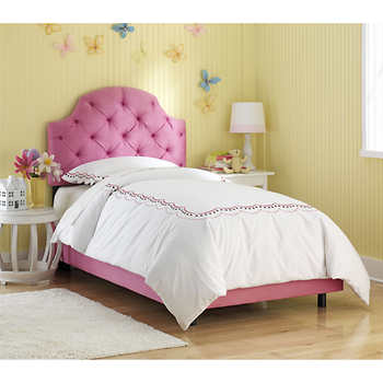 Pink Ellie Tufted Twin Bed