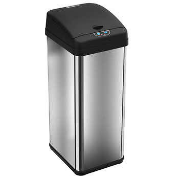 ITouchless 13 Gallon Stainless Steel Touchless Trash Can