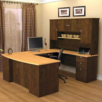 Merritt u shape desk with hutch - Costco office desk ...