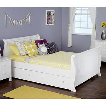 Olivia Full Sleigh Bed With Twin Trundle Bed