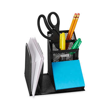 Rolodex mesh desk organizer with pencil storage black - Black mesh desk organizer ...