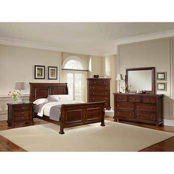 richmond 6 piece king sleigh bedroom set
