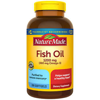 Nature made fish oil 1200 mg 400 softgels for Naturemade fish oil