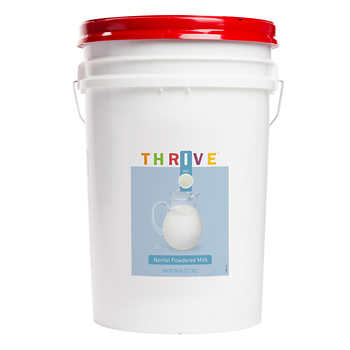 Thrive 437 Total Servings Non Fat Powdered Milk 28 Lb
