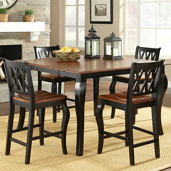 roslyn 5 piece counter height dining set