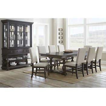 carmel 10 piece dining set with hutch