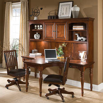 Austin Worklife Office T Desk With 2 Chairs