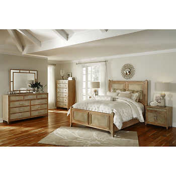 mission heights 6 piece cal king bedroom set
