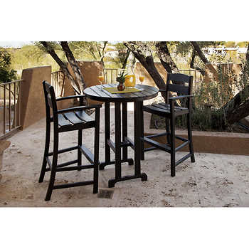 Classics 3 Piece Bar Dining Set By Ivy Terrace