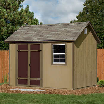 Brampton 10 ft x 8 ft wood storage shed for 12x10 floor register