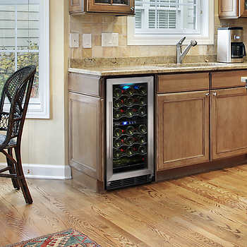 Vinotemp 32 Bottle Single Zone Built In Wine Cooler With Led Display Vt 32sb Id