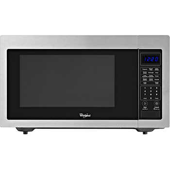 Whirlpool? 1.6CuFt Stainless Steel Countertop Microwave with 1,200 ...